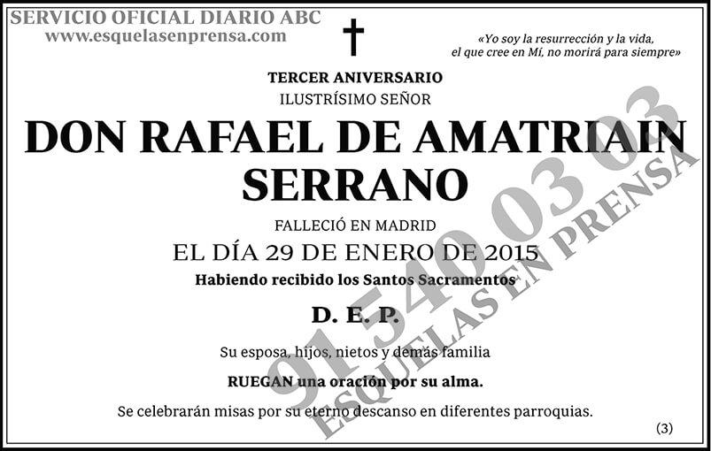 Rafael de Amatriain Serrano